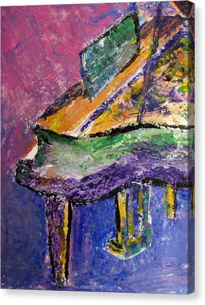 Piano Purple - Cropped Canvas Print