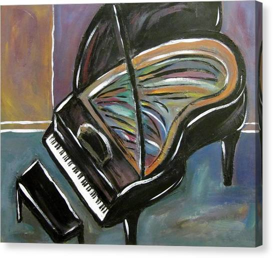 Piano With High Heel Canvas Print