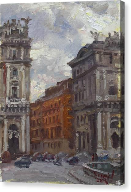 Rome Canvas Print - Piazza Della Repubblica Rome by Ylli Haruni