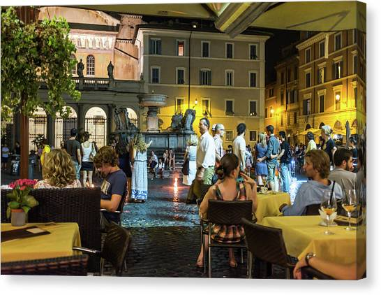 Canvas Print featuring the photograph Piazza by Robert McKay Jones