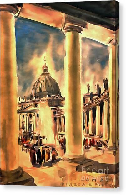 Piazza San Pietro In Roma Italy Canvas Print