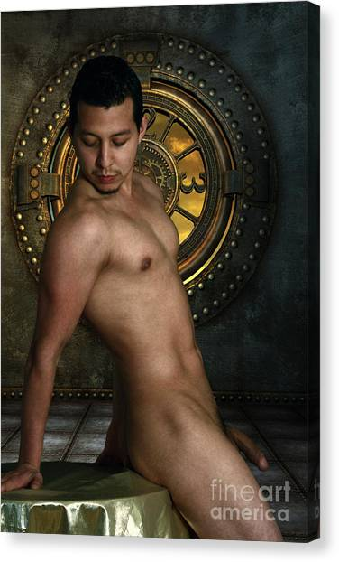 Bodybuilder Canvas Print - Pic With No Name  by Mark Ashkenazi