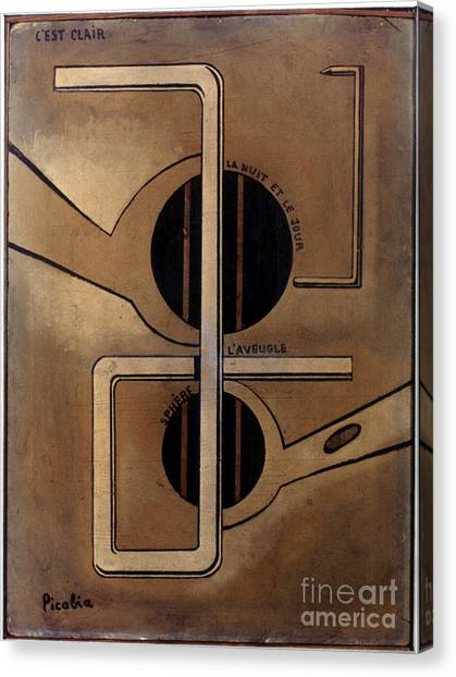 Dada Art Canvas Print - Picabia: Cest Clair, C1917 by Granger