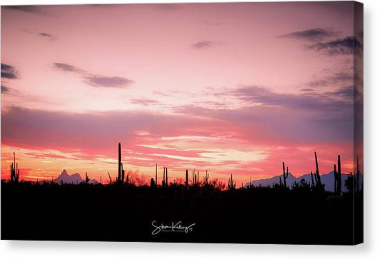 Picacho Sunset Canvas Print