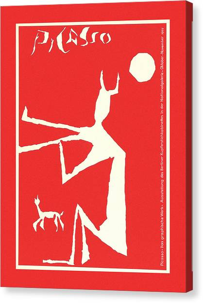 Pablo Picasso Canvas Print - Picasso Exhibition Poster 3 by Andrew Fare