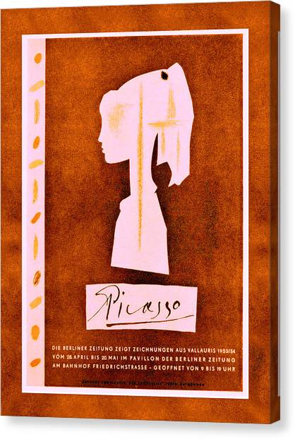Pablo Picasso Canvas Print - Picasso Exhibition Poster 6 by Andrew Fare