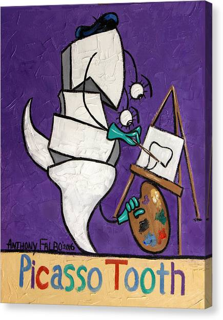 Cavity Canvas Print - Picasso Tooth by Anthony Falbo