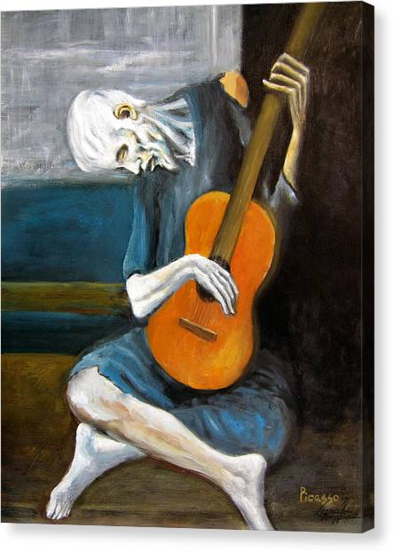 Picasso's Old Guitarist Canvas Print