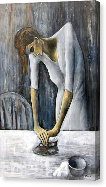 Picasso's Woman Ironing Canvas Print