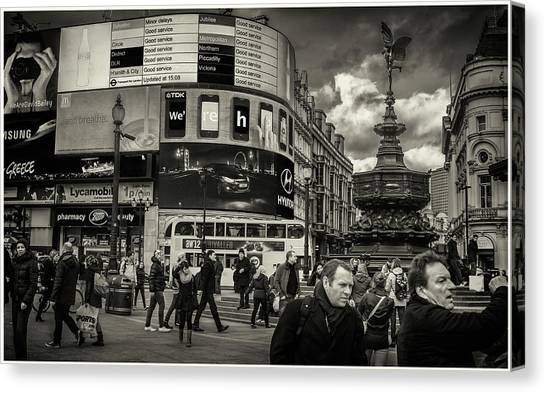 Canvas Print featuring the photograph Piccadilly  by Stewart Marsden