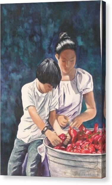 Pick A Pepper Canvas Print
