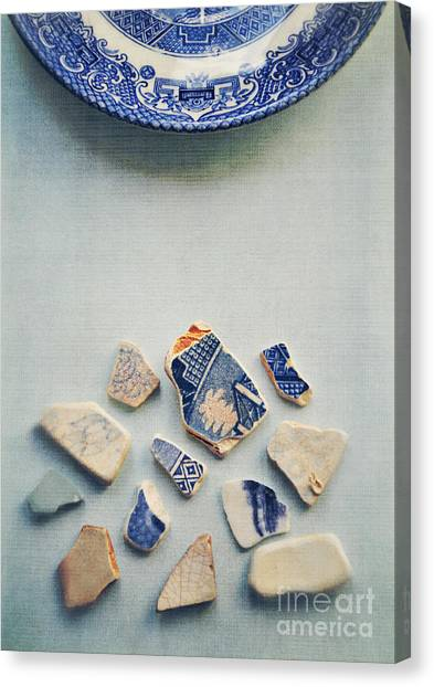 Picking Up The Broken Pieces Canvas Print