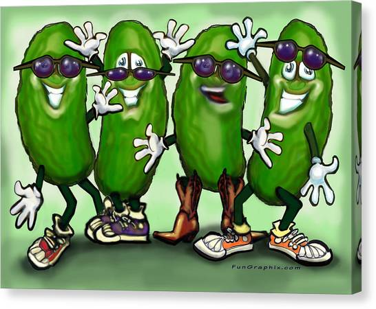 Pickle Party Canvas Print