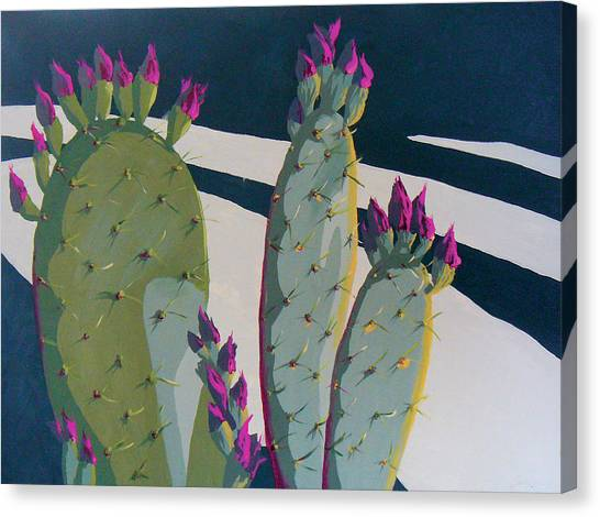Cactus Canvas Print - Picky Picky Picky Too by Sandy Tracey