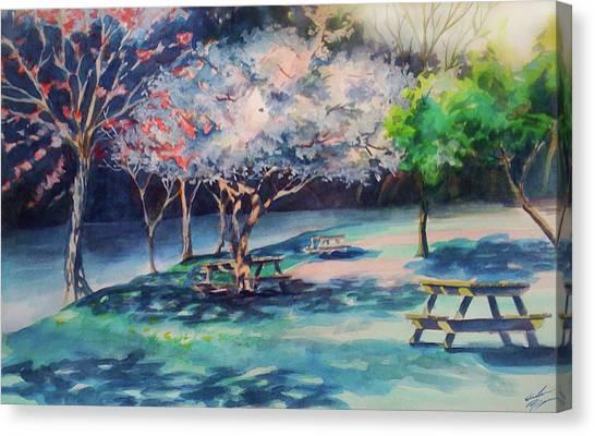 Picnic Area Canvas Print by Julie Morrison