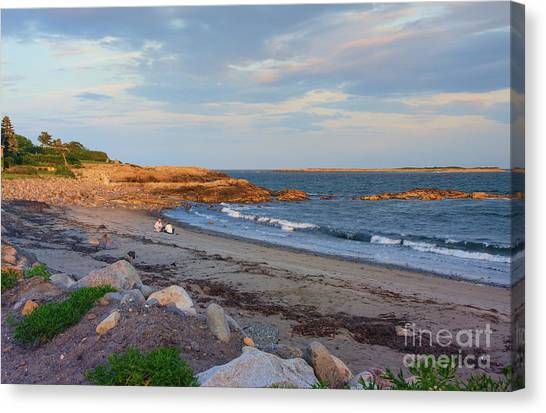 Picnic At Sunset Canvas Print