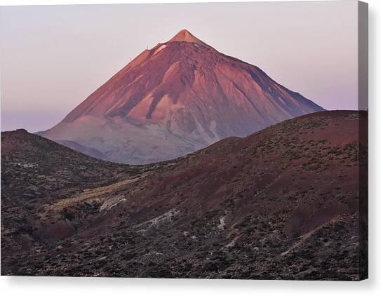 Morning Volcano Canvas Print by Marek Stepan