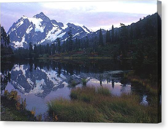 Picture Lake - Mt. Shuksan Canvas Print