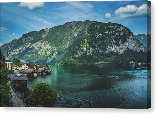 Picturesque Hallstatt Village Canvas Print