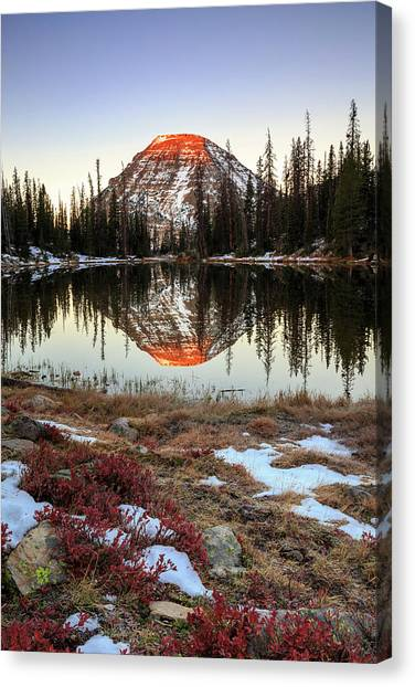 Uinta Canvas Print - Picturesque Lake by Johnny Adolphson