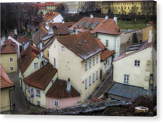 Picturesque Quarter Close To Prague Castle Canvas Print by Marek Boguszak