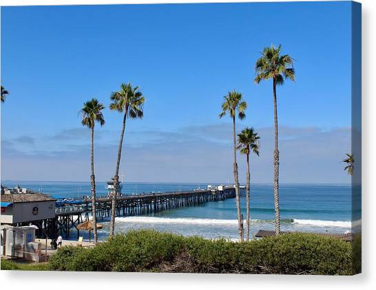 Pier And Palms Canvas Print