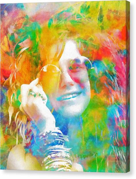 Janis Joplin Canvas Print - Piece Of My Heart by Dan Sproul