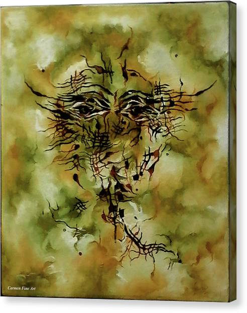 Canvas Print featuring the painting Piece With Spirit by Carmen Fine Art