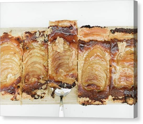 Brunch Canvas Print - Pieces Of Apple Tart by Tom Gowanlock