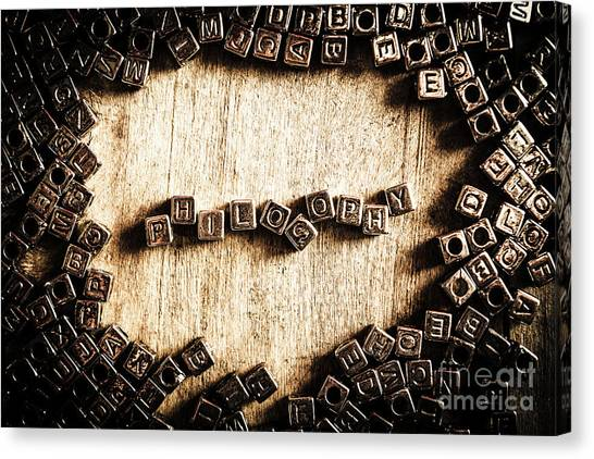 Psychology Canvas Print - Piecing Together Philosophy by Jorgo Photography - Wall Art Gallery