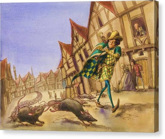 Pied Piper Rats Canvas Print