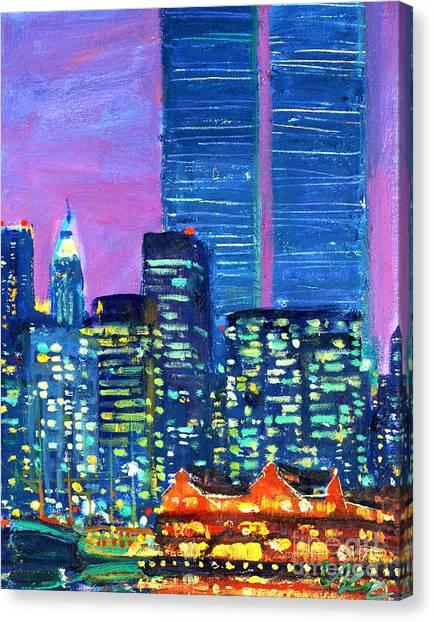 Pier 17 Summer Night 2001 Canvas Print
