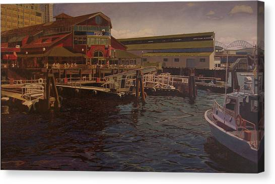 Pier 55 - Red Robin Canvas Print