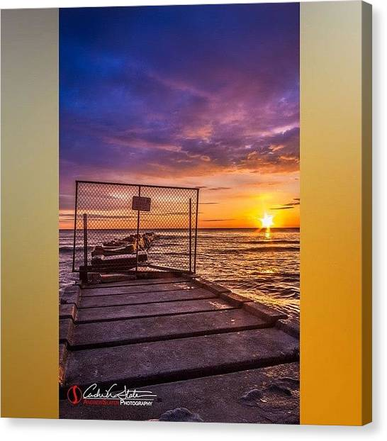 Sunrise Horizon Canvas Print - Pier by Andrew Slater