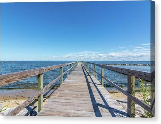 Pier At Highland Beach Canvas Print