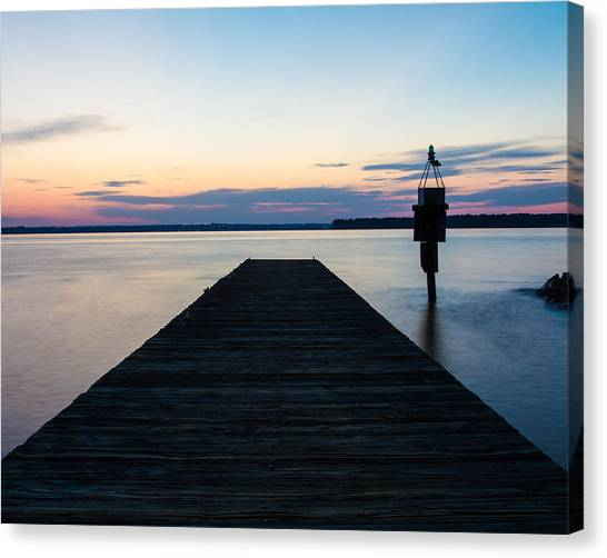 Pier At Sunset 16x20 Canvas Print