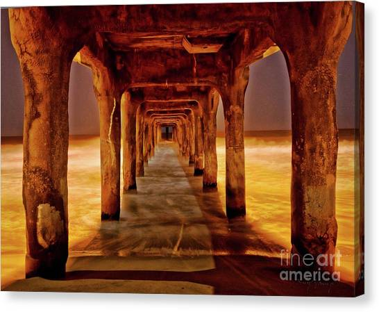 Pier Beauty Canvas Print by Larry Young