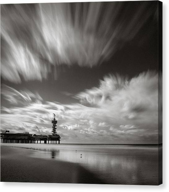 Pier Canvas Print - Pier End by Dave Bowman