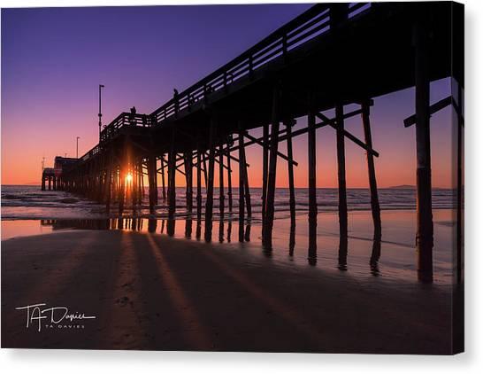 Pier In Purple Canvas Print