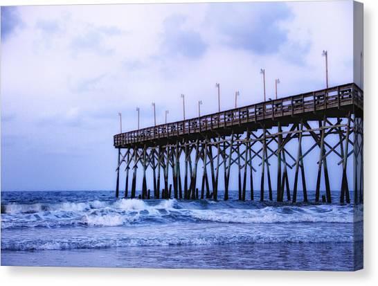Pier Into The Sea Canvas Print