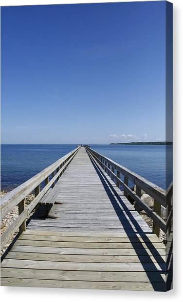 Pier On Fort Pond Bay Montauk Canvas Print