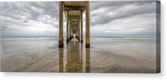 Scripps Pier Canvas Print - Pier Review by Dustin  LeFevre