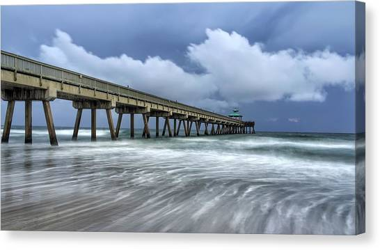 Pier Time Lapse Canvas Print