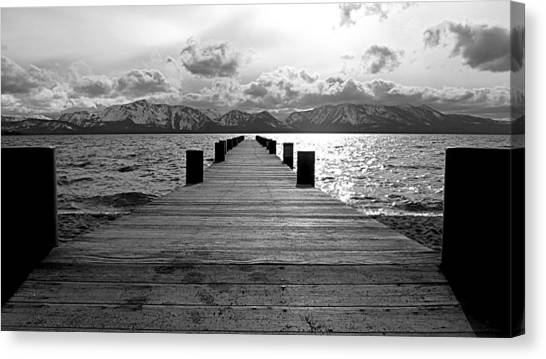 Pier To Mount Tallac Lake Tahoe Canvas Print