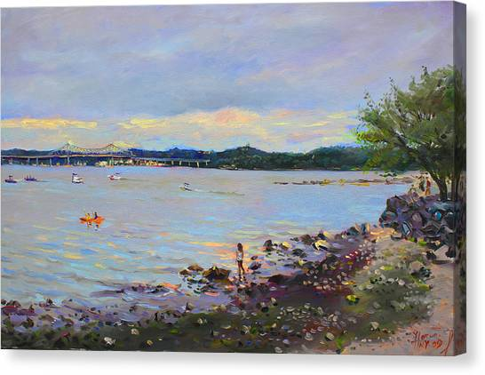 Ny Canvas Print - Piermont Shore Ny by Ylli Haruni