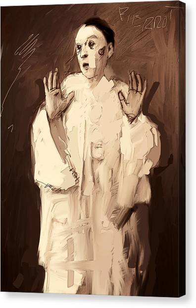 Arte Canvas Print - Pierrot by H James Hoff