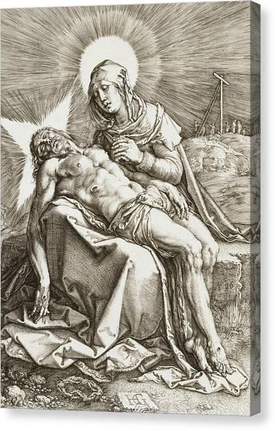 Early Christian Art Canvas Print - Pieta by Hendrik Goltzius