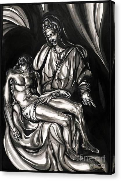 Pieta Canvas Print by Keith  Thurman