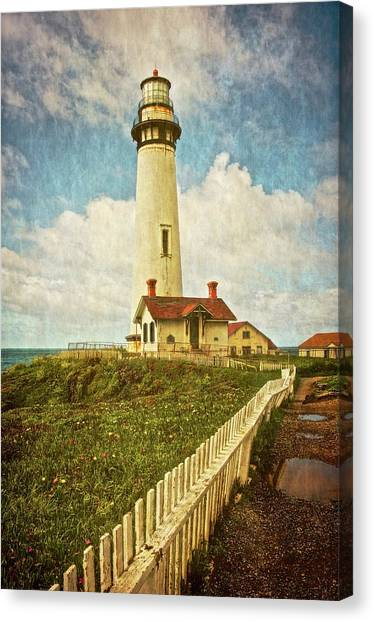 Pigeon Point Light House, Textured Canvas Print