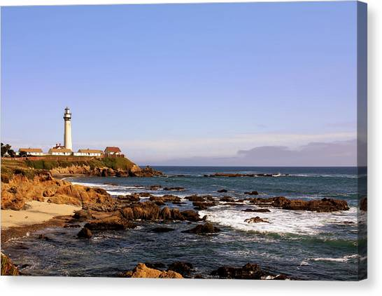 Pigeon Point Lighthouse Ca Canvas Print
